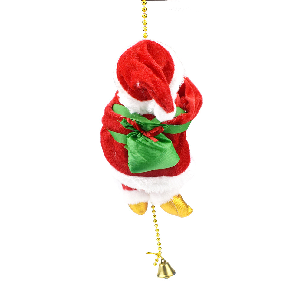 Novelty Funny Electric Crawling Beads Santa Claus Doll Toy Christmas Gift Decorations