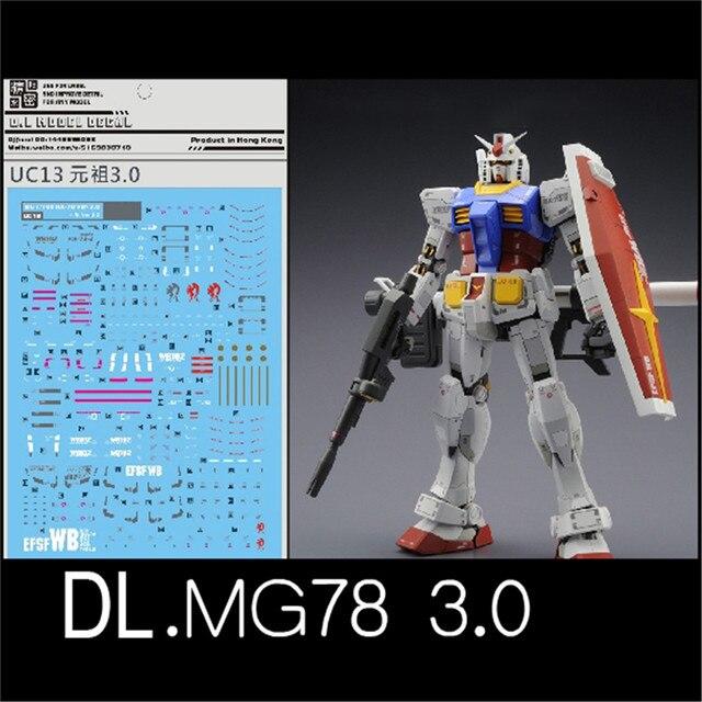 Için UC13 Su Sticker için BANDAI MG 1/100 RX 78 2.0 Gundam VER 3.0 Model Gunpla Çıkartması