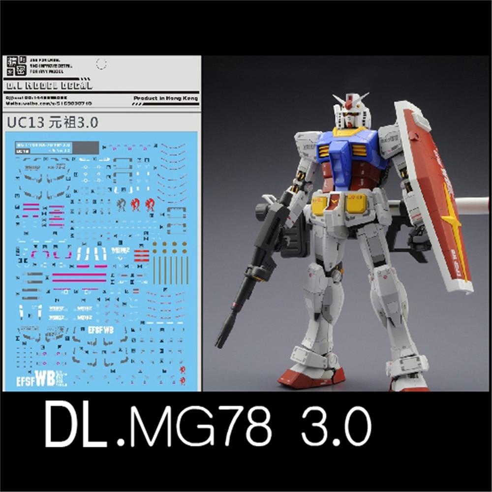 Para 78 UC13 Água Etiqueta para BANDAI MG 1/100 RX 2.0 VER 3.0 Modelo Gunpla Gundam DecalqueKits de modelo de construção   -