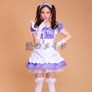 Image 4 - Cafe Restaurant Maid Wear Waiter Professional Uniform Short Skirt Anime Servant Cosplay Costume Sweet lolita Clothes