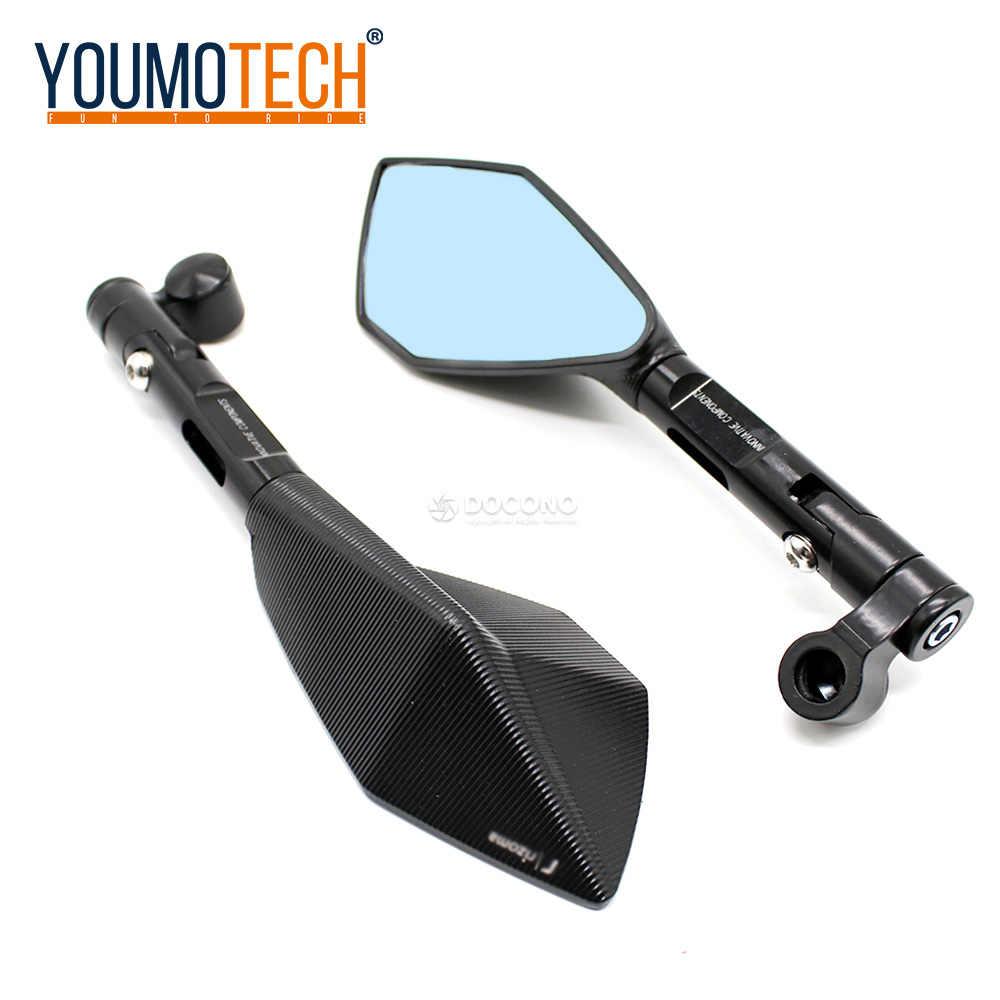 Anhui-dsb Espejos de la motocicleta Moto lateral espejos retrovisores for Yamaha YZF R1 R6 YZF600 R3 R125 R25 R15 2003 2004 2005 2006 2007 2008 2009 Color : Black