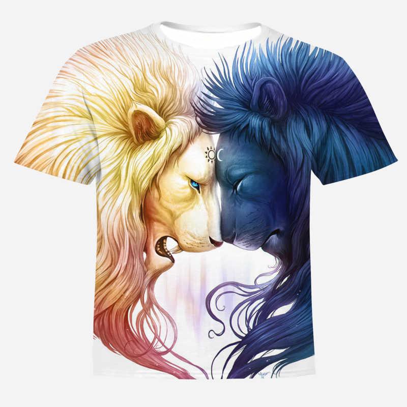 2020 년 여름 신작 쿨 스타일 힙합 남성용 3D 프린트 t 셔츠 남성용 여성용 라이온 킹 t 셔츠 하라주쿠 남성용 셔츠 S-4XL