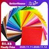 20/40pc 30x30/40x45/15x15/10x10cm DIY Colorful Fabric Cloth 1mm Polyester Cloth Felts Home Sewing Wedding Decoration Dolls&Craft
