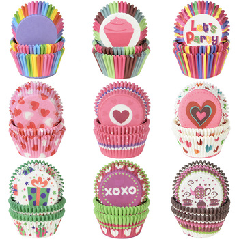 100Pcs Muffin Cupcake Paper Cups Liner Baking Box Cup Case Party Tray Cake Decorating Tools Birthday Decor - discount item  25% OFF Kitchen,Dining & Bar
