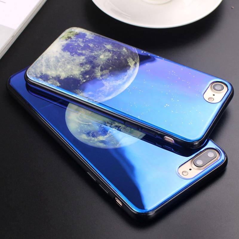 JAMULAR Electroplate Cahaya Biru Lembut Phone Cover untuk iPhone X XS - Aksesori dan suku cadang ponsel - Foto 4