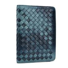 Genuine Leather RFID Blocking Passport Holder Travel Credit Card Case Protector