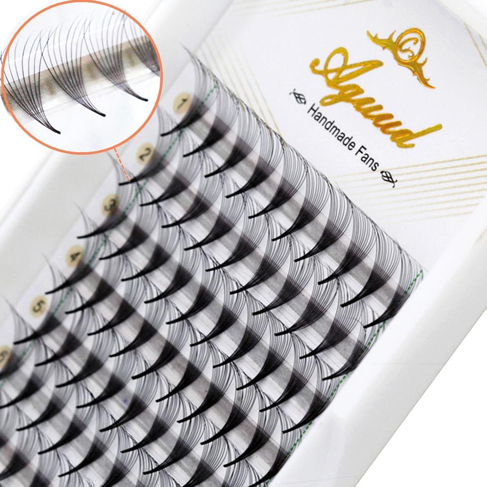 0,05 острые тонкие узкие готовые ресницы AGUUD 5D 6D 8D 10D 12D 14D объемные шелковые накладные норковые ресницы для наращивания макияжа реснички