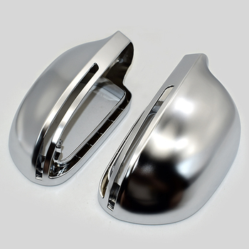 Matt Chrome Mirror Cover Rearview Side Mirror Cap S Line For Audi A4 B8 A6 C6 A5 8T Q3 A3 8P