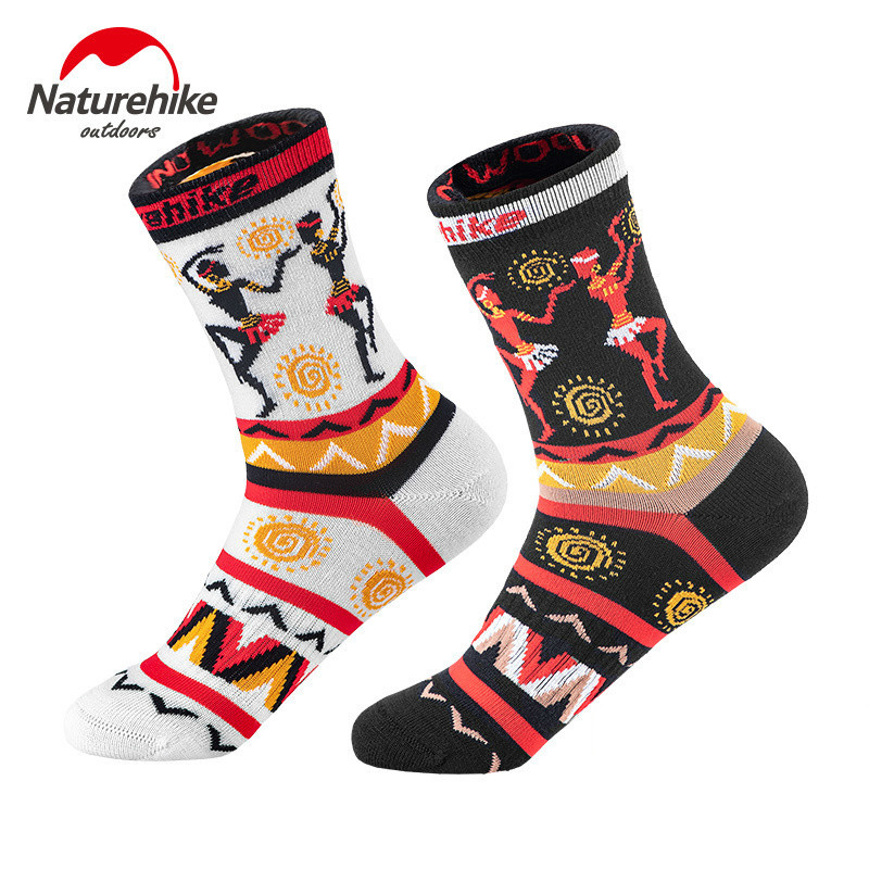 Naturehike 2 Pairs Merino Wool Travelling Mountaineering Camping Sports Socks Non-slip Comfortable Cycling Egyptian Style Socks