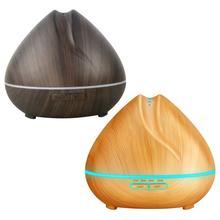 цена на Peach shaped Air Humidifier Ultrasonic Aroma Essential Oil Diffuser 550Ml Aromatherapy Machine Wood Grain Color Changing