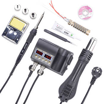 JCD 2 in 1 Hot Air Gun Rework Soldering Station 800W LCD Digital Electric Soldering Iron for Phone PCB IC SMD 8898 Welding Set - DISCOUNT ITEM  30 OFF All Category