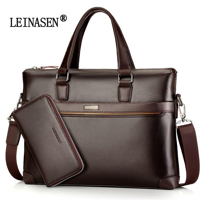 Men Business Briefcase IPAD Laptop Shoulder Bags Sundries Storage Messenger Crossbody Bags Large Capacity Attache Case Handbag