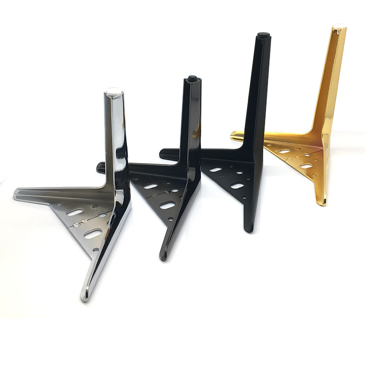 1/ 2pcs Furniture Legs Metal Iron Triangular Straight Support 12/ 15/ 18cm Cabinet Wood Table Feet Furniture Accessories