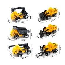 Toy Crane-Toy Excavator-Toy Vehicle-Set Engineering Bulldozer 12cm Small Children's