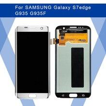 Do SAMSUNG Galaxy S7 krawędzi G935 G935F LCD wyświetlacz AMOLED ekran + panel dotykowy przetwornik analogowo cyfrowy do Samsunga wyświetlacz oryginalny