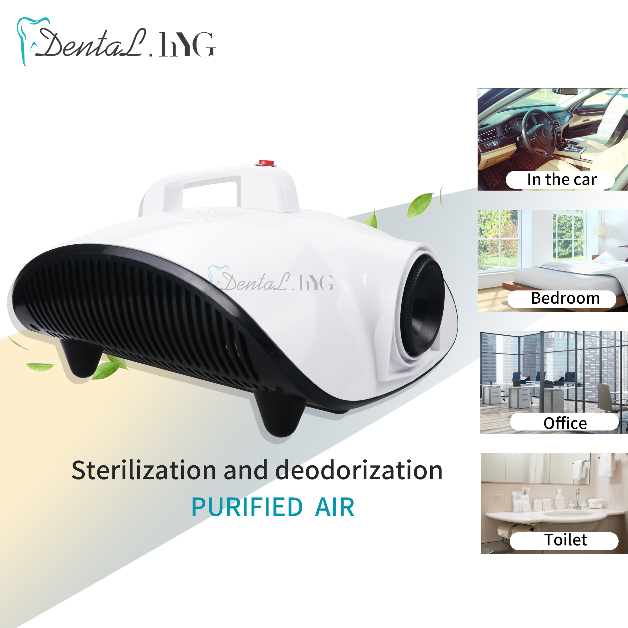 1500W 2in1 Auto Disinfection Sterilization Fogger Sprayer Multi Timed QuantificationKill Virus Smoke Fog Machine Home Car