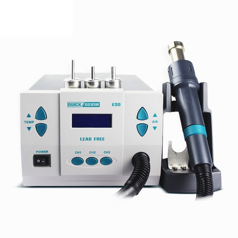 1000W Original QUICK 861DW heat gun lead-free hot air welding station hairdryer soldering Hot Air Rework Station hot air gun