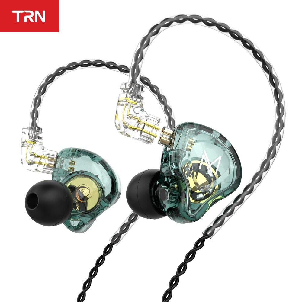 Внутриканальные наушники TRN MT1 HIFI, динамические наушники-вкладыши DJ монитора, Спортивная шумоподавляющая гарнитура TRN M10 TA1 ST1 STM V90s