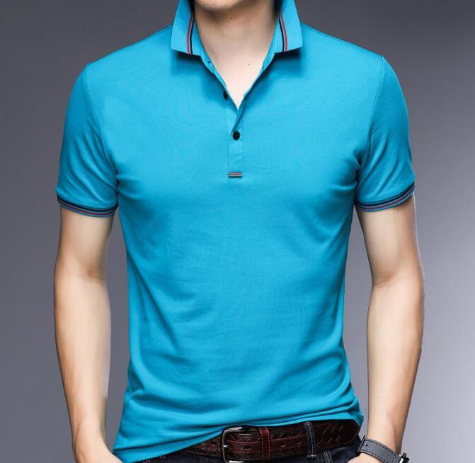 2020 Popular Design Summer Men Short Sleeve Soft Cotton T-shirt