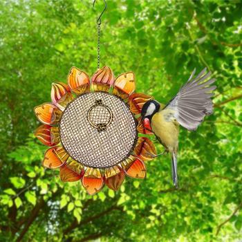 Bird Feeder Sunflower Hummingbird PetFeeder Garden Yard Art