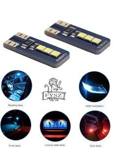 Image 5 - 2 pièces nouveau T10 W5W LED 2825 haute qualité voitures ampoules Super lumineux voiture lecture dôme lumières Auto feux de position cale queue côté ampoules