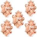 Воздушные шары из розового золота с цифрами, украшение для дня рождения, 18, 20, 21, 30, 40, 50, праздничные шары с цифрами