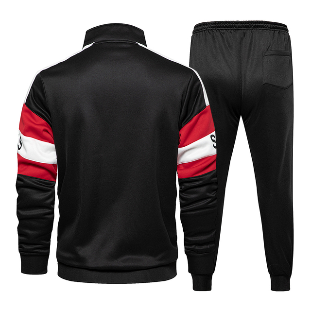 New Spring Mens Clothing Men Hoodie Sets Printing Suit Set Fleece Zipper Sweatshirt Casual Sport Sweatpants Mens Tracksuits 2021 5