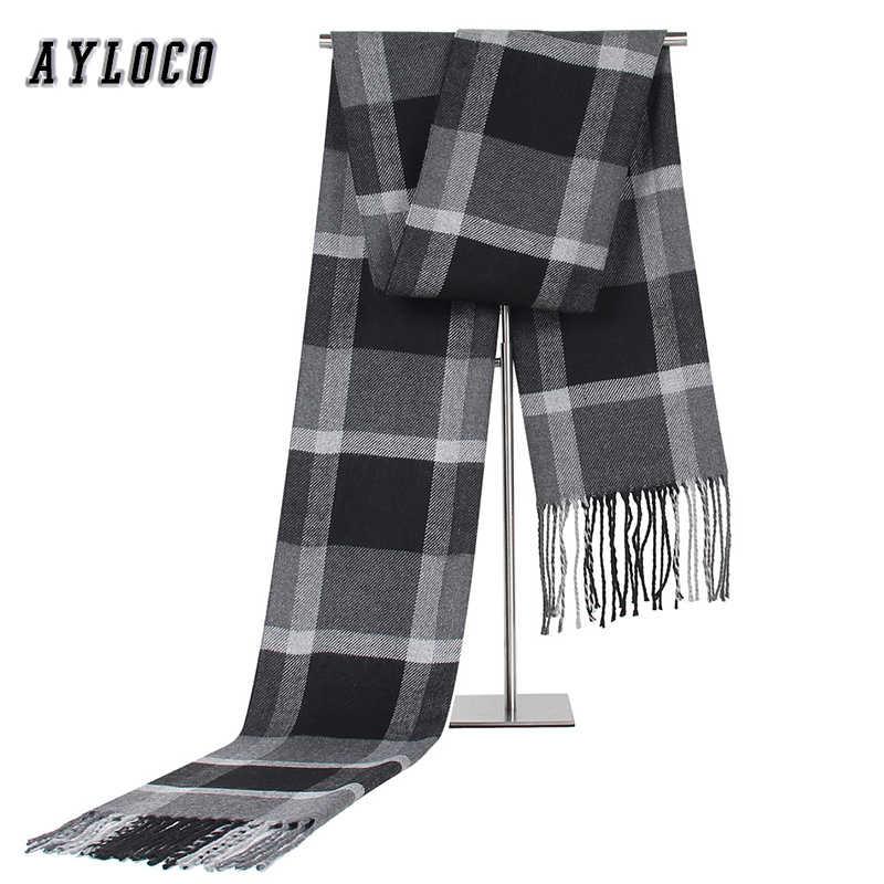 2019 diseño de lujo de los hombres Cachemira bufanda de mujer Fular Plaid poncho de Bufandas Casual invierno Bufandas Hombre