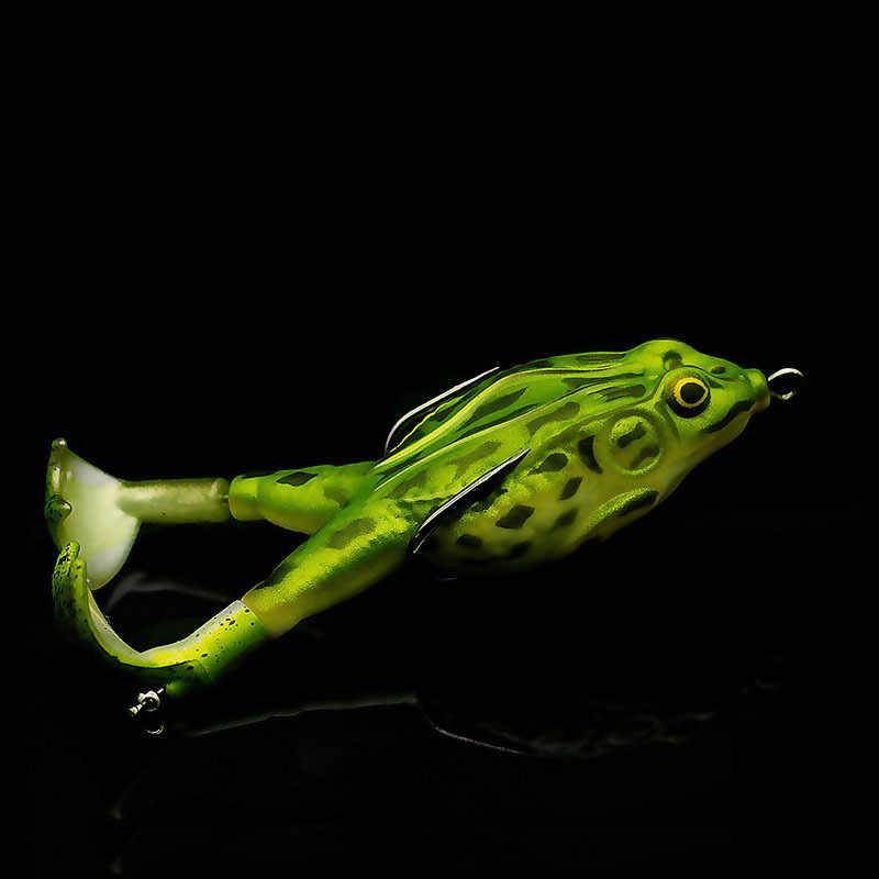 ใบพัดคู่กบอ่อนเหยื่อSHAD Soft Lure Jiggingเหยื่อตกปลาเหยื่อProp Topwaterปลาซิลิโคนประดิษฐ์Wobblers