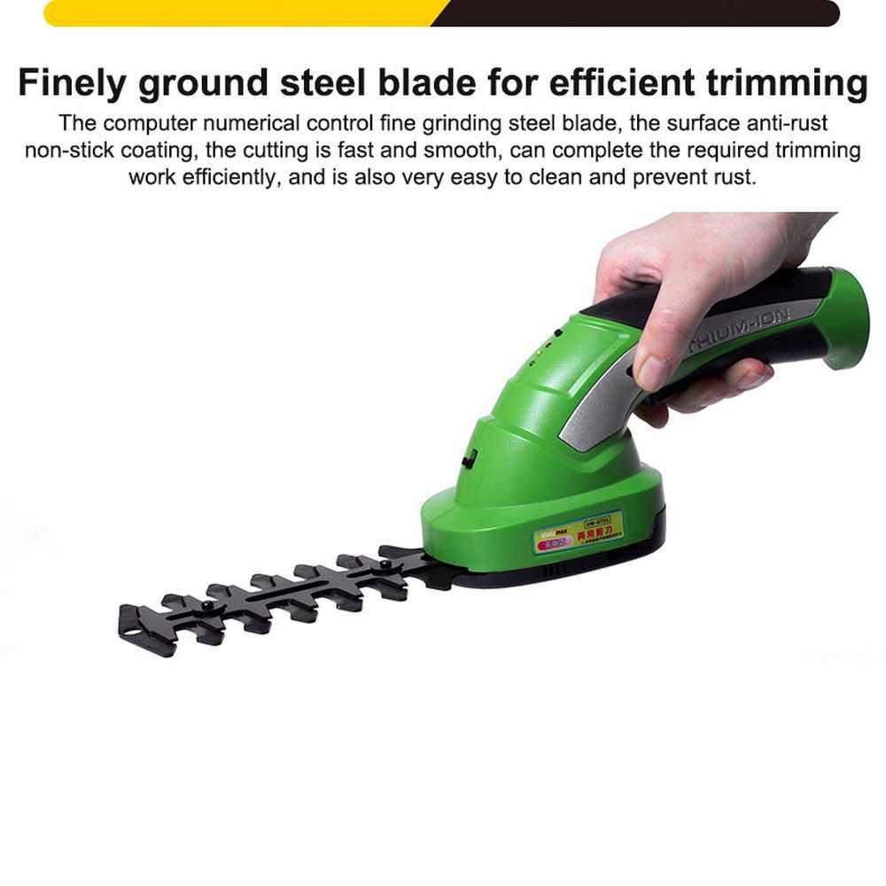GT02-1 2 en 1 Rechargeable taille-haie outils électriques 7.2V Combo tondeuse à gazon coupe-herbe sans fil outils de jardin manipulés outils