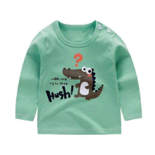 New Boys Girls Dinosaur Cartoon Long Sleeve Cotton T Shirts Boys clothes Children Printed Tees Kids T Shirts Baby Boy Tops 9M-6Y new spring boys girls cartoon cotton tattoo t shirts children tees boy girl long sleeve t shirts kids tops baby clothes 12m 6y