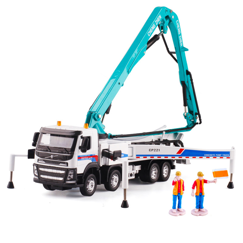 1 50 alloy pump truck high altitude cement watering truck heavy engineering vehicle model vehicle collection traffic artwork kid in Diecasts Toy Vehicles from Toys Hobbies