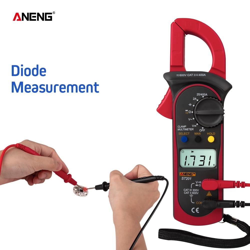 ANENG ST201 цифровой клещи мультиметр 4000 отсчетов клещи амметры конденсатор тестер автомобильный тестер напряжения тока инструменты