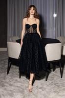 Black Cocktail Dress Short 2020 Prom Dress Backless Prom Gown Abiye Gece Elbisesi Stain Formal Dress Party abendkleider