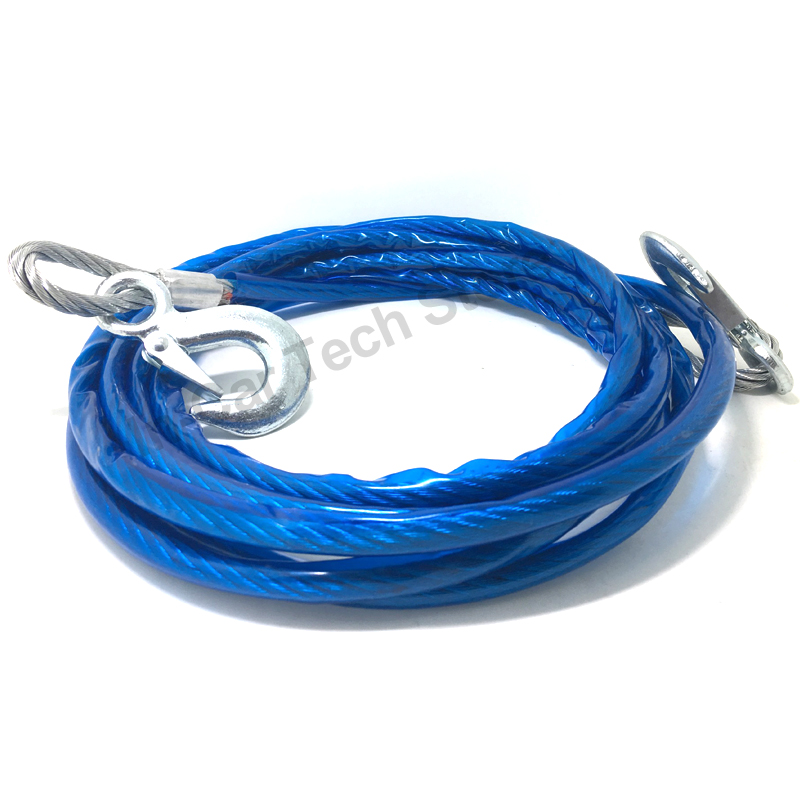 7 Tons 5 Meter Universal Car Tow Cable Towing Strap Rope54