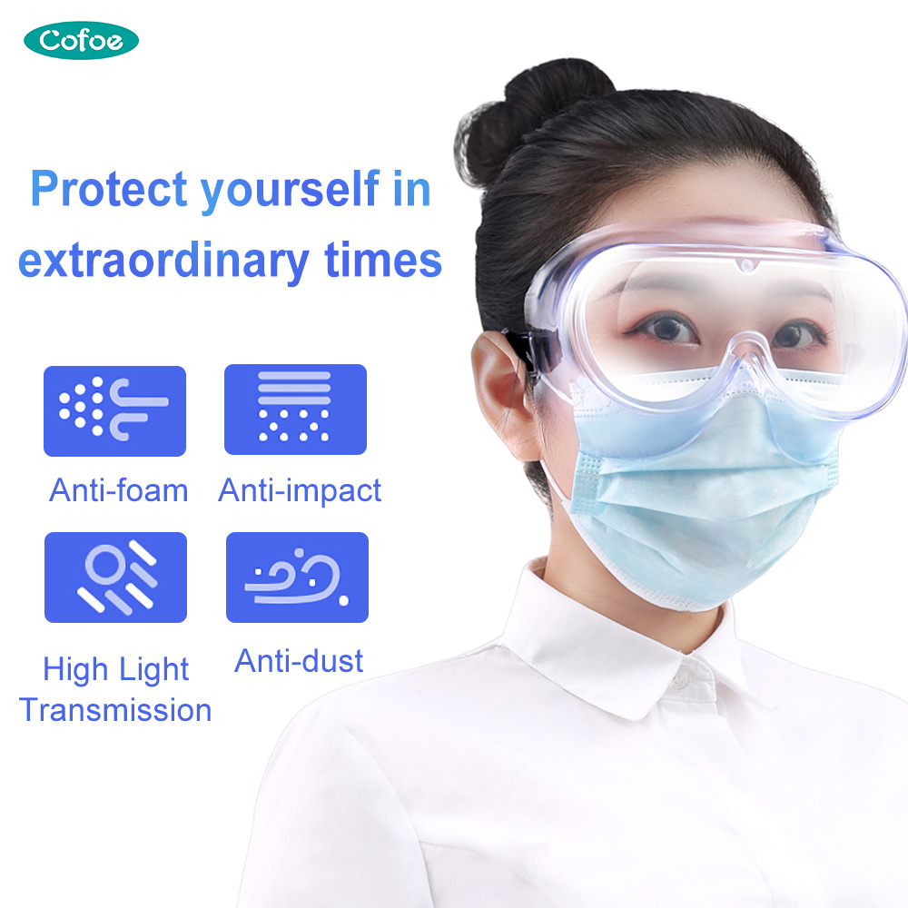 Cofoe Medical Protective Safety Goggles Anti-virus Closed Mask Prevent Saliva Infection Eye Mask Anti-Fog Medical Splash Goggles