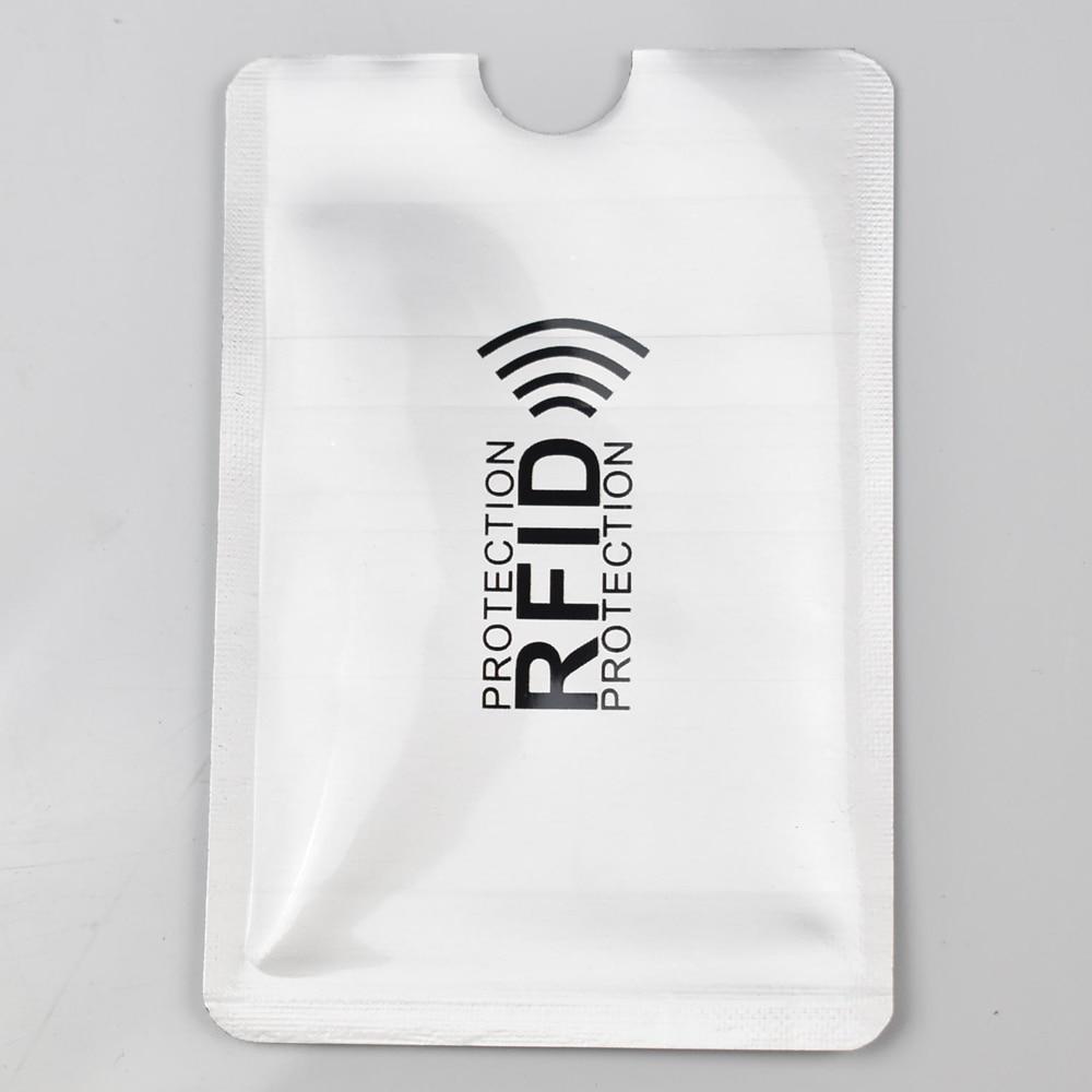 6PCS Anti Scan Rfid Blocking Reader Lock Bank Card Holder ID Bank Card Case Rfid Protection Metal Credit Card Holder Aluminium
