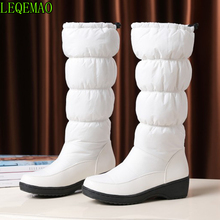 black Winter Boots Brand Quality Women Snow fake fur insole Lady Warm Shoes Girl fashion nice lookin