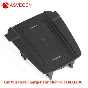 Wireless Car  Phone Charger For Chevrolet MALIBU 2017-2018 Fast Charging Case Plate Central Console Storage Box Acce
