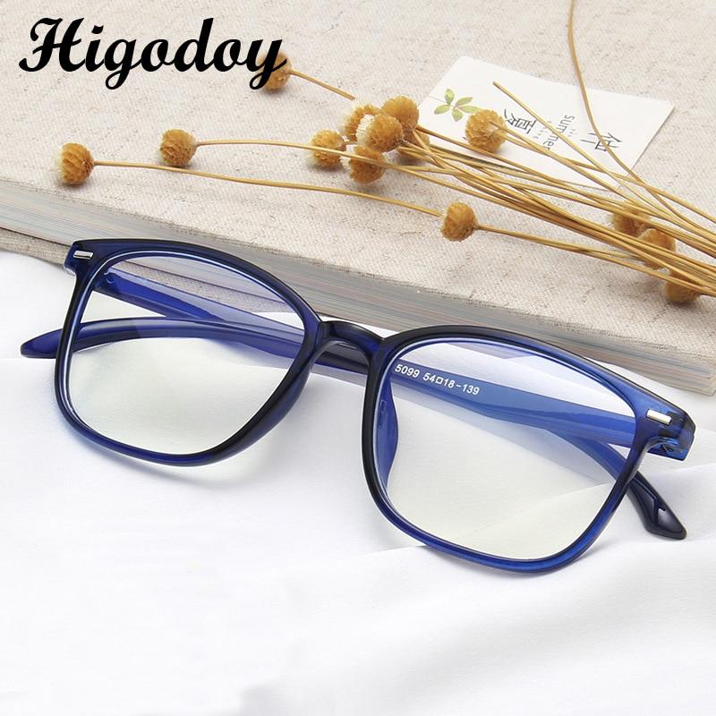 Higodoy Retro Anti-blue Glasses Frame For Men Vintage Transparent Goggle Myopia Blue Light Blocking Eyeglasses Frame Women