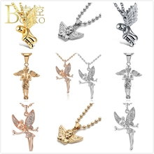 Angel Pendants Necklace For Women/Men Prayer Girl Boy Anniversary Party Birthday Gift Lucky elf Wings K5