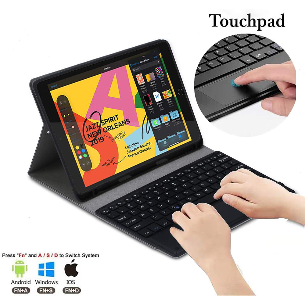 Image 5 - Tablet Keyboard For Apple iPad 7th Gen 10.2 2019 Tablet Case USA