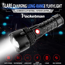 New 4*XHP50 LED Flashlight Strong Lighting Distance Torch Zoom Waterproof Flashlight USB Rechargeable Torch 18650/26650 Battery usb rechargeable flashlight nitecore mh10 7 modes max 1000 lume beam distance 232 meter outdoor torch 18650 2600mah battery