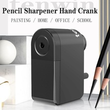 Tihoo Pencil Sharpener Hand Crank with Container Professional for Children Painting Artist Stationery School Supplies Tenwin Art