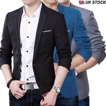 Men Male Casual Stylish Slim Long Sleeve Baseball Jacket Coat Zipper Coat Wedding Party Jacket Tuxedo Suit Coat Night Clubwear