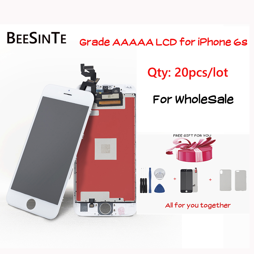 20pcs/lot new display for <font><b>iPhone</b></font> <font><b>6s</b></font> lcd touch Screen Replacement For Apple 6G 4.7'' No Dead Pixel <font><b>ecran</b></font> with Tools+TPU Case LCD image