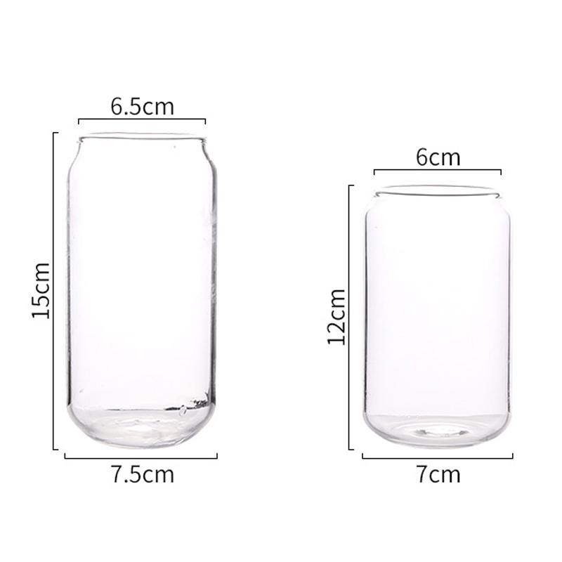 Creative Glass Mug Soda Cola Can Shaped Glass Mug Ice Beer Cup Bar Cafe Beverage Juice Cup Heat Resistant Glasses 400ML550ML (9)