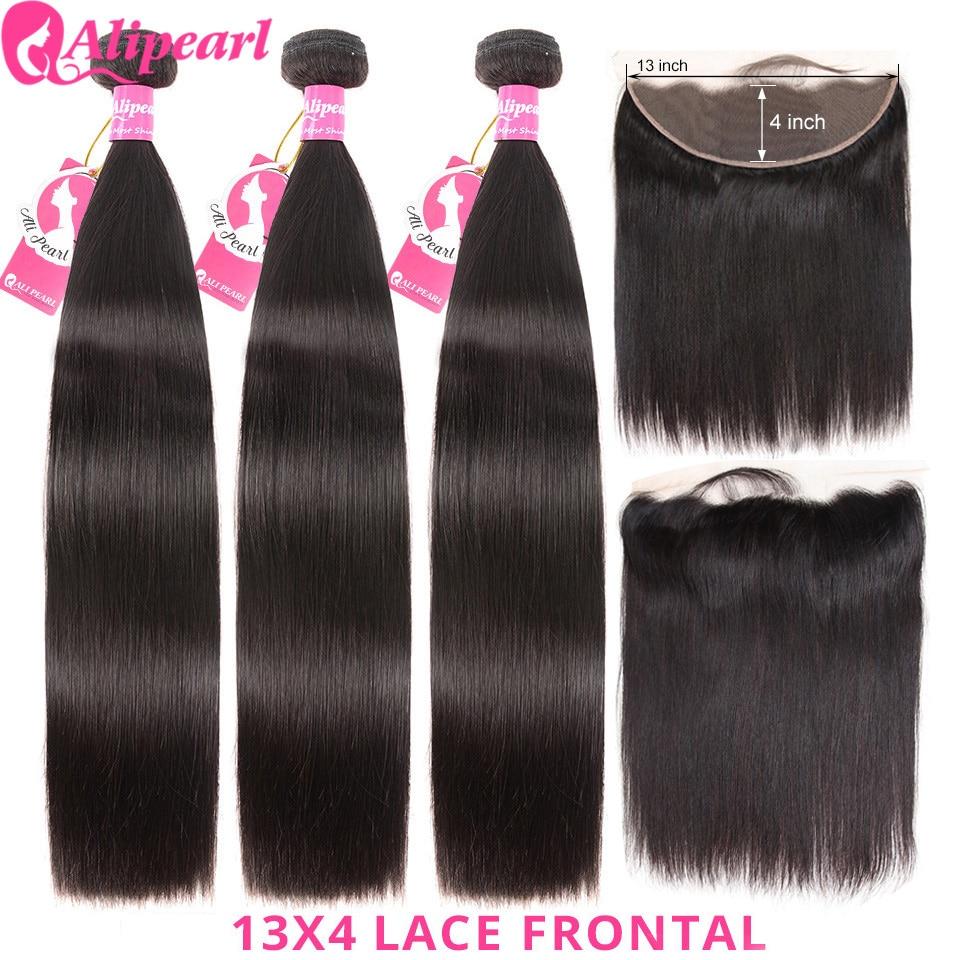 Mèches brésiliennes Lace Frontal 13x4-AliPearl Hair | Cheveux naturels, Lace Frontal 13x6, pre-plucked, lisses, en lots de 3
