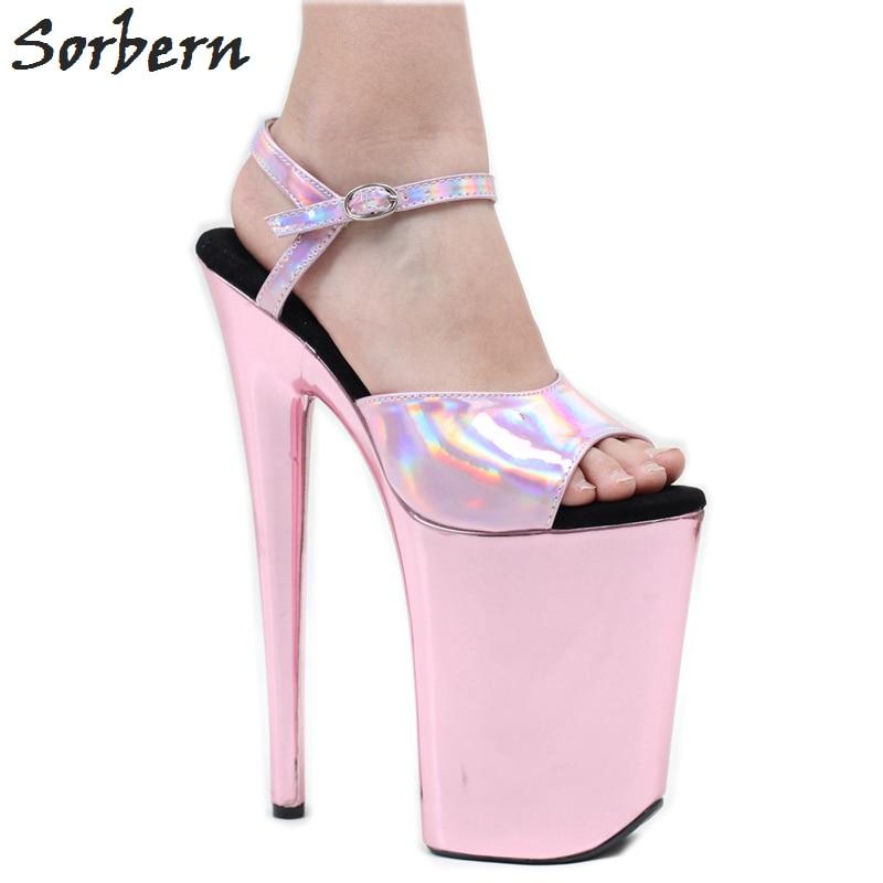 Sorbern 9 Inch High Heel Sandals Pink