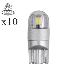 10Pcs T10 LED Car Light 2 SMD 3030 Marker Lamp W5W WY5W 192 501 2SMD Tail Side Bulb Wedge Parking Dome Light Canbus Auto Styling